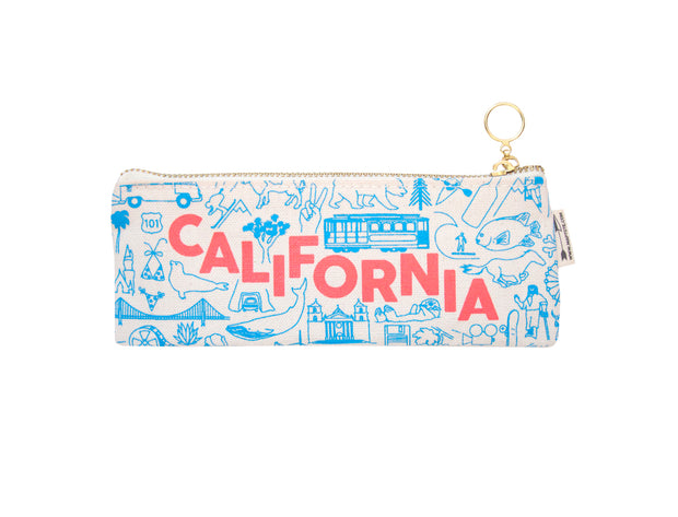 california pencil pouch - denim or natural canvas
