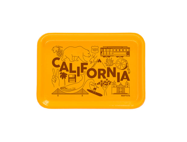 california small yellow tray