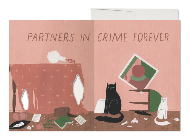 cat crimes french fold card