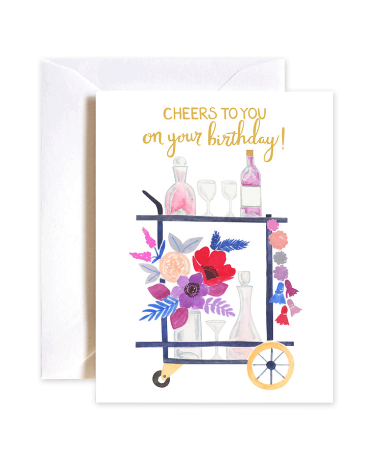 cheers to you! birthday card