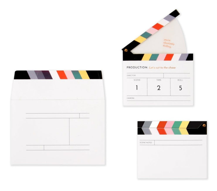 clapperboard pop-up card