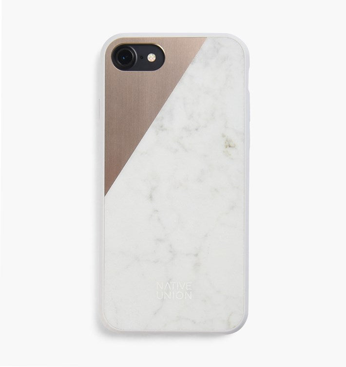 clic marble & metal iphone 7 case