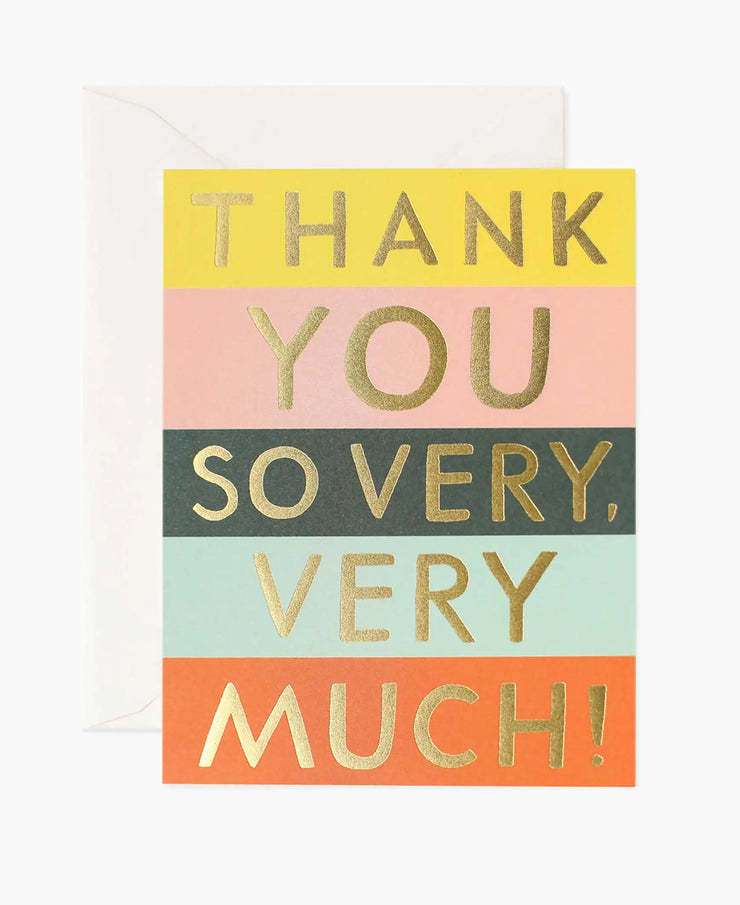 color block thank you card - single or set of 8