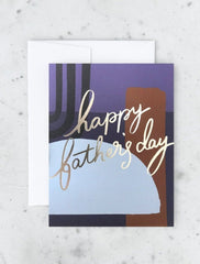color block father's day card