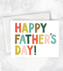 colorful letters father's day card