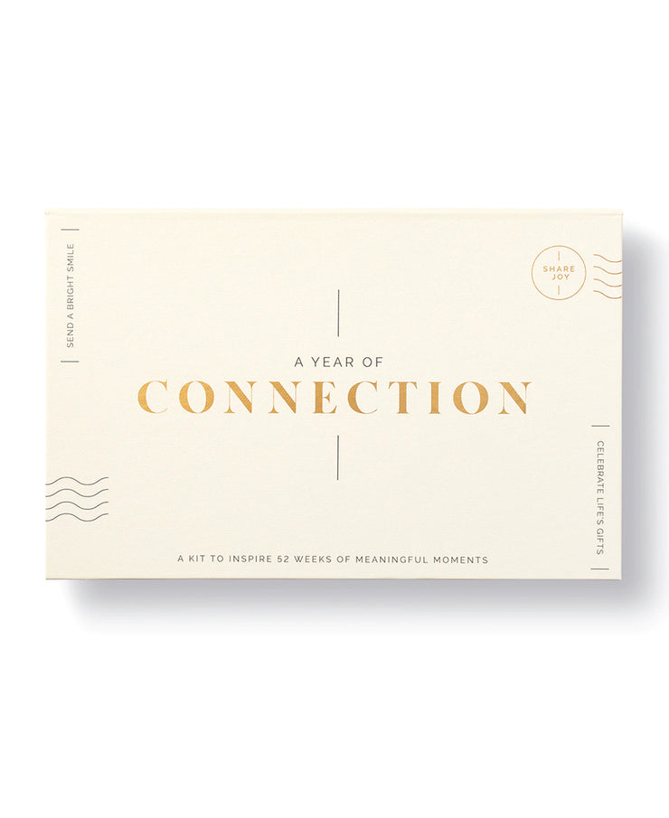 a year of connection card + journal set