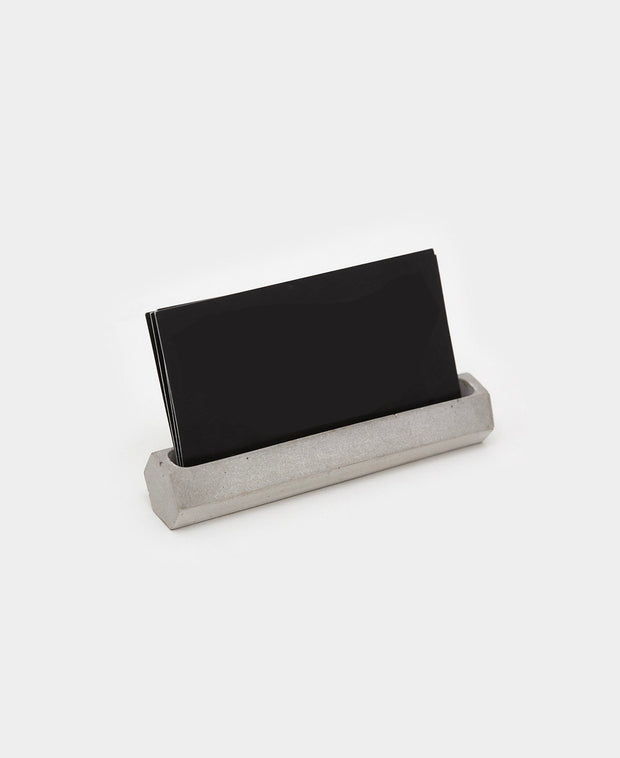 hex concrete business card holder