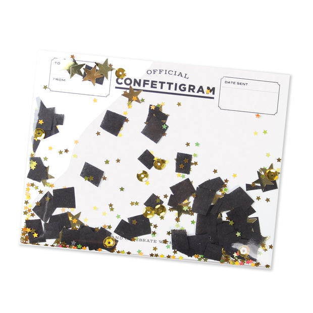 graduation confettigram card