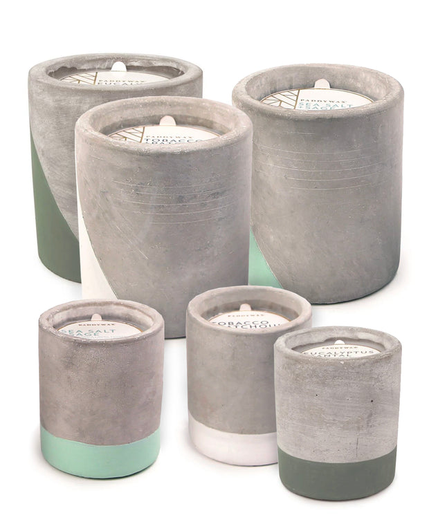 urban concrete 3.5oz & 12oz candles