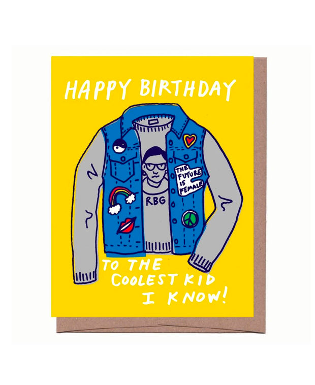 coolest kid birthday card