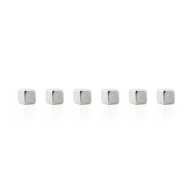 gold & silver cube mighties magnets - 6 pack or 12 pack