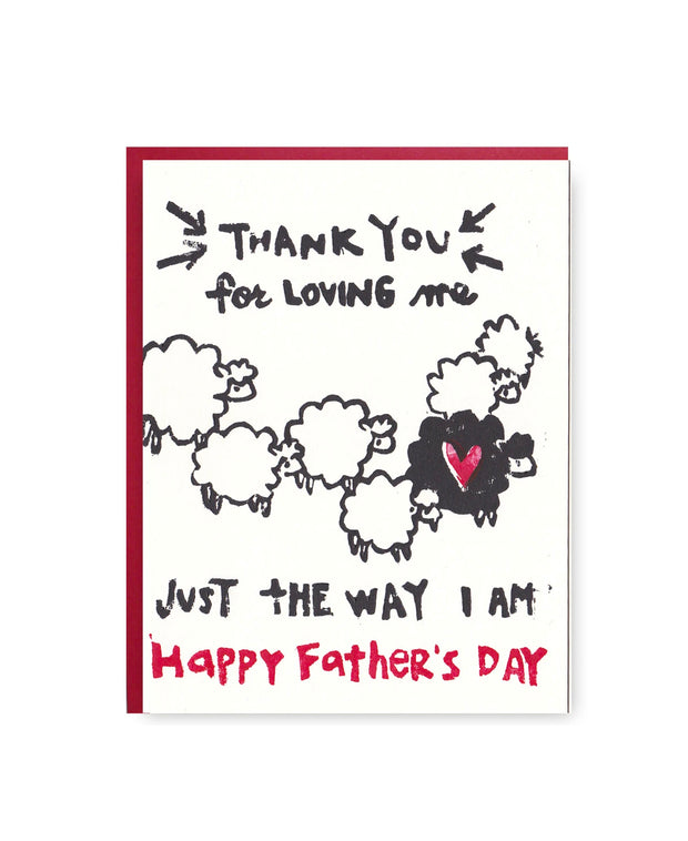 dad thank you for loving me card