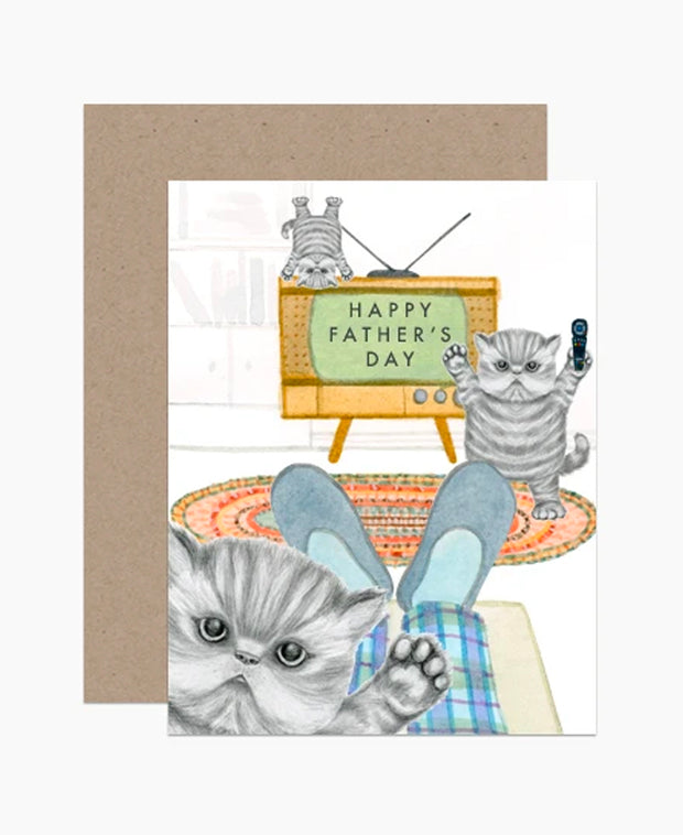 naughty kittens father's day card