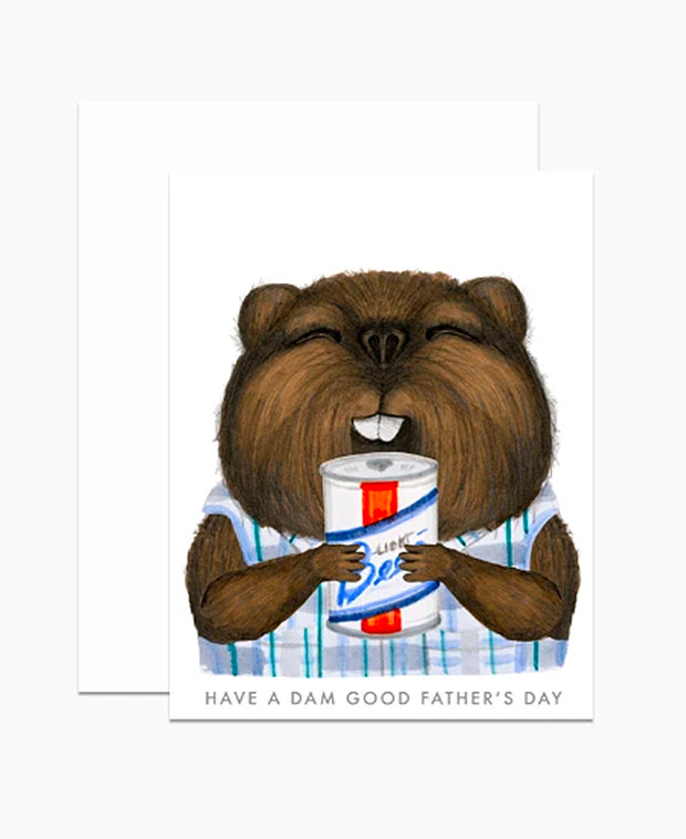 beaver father's day card