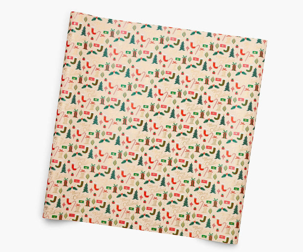 deck the halls continuous wrap roll