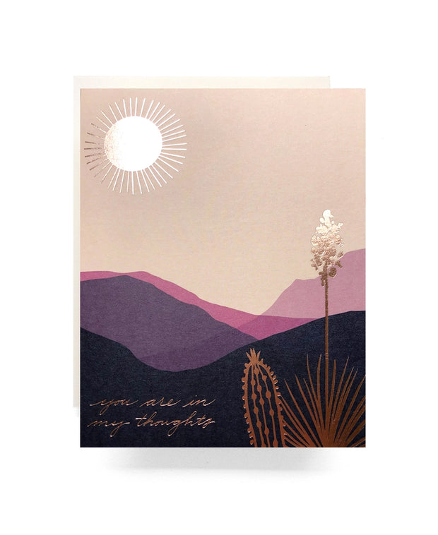 desert you are in my thoughts card