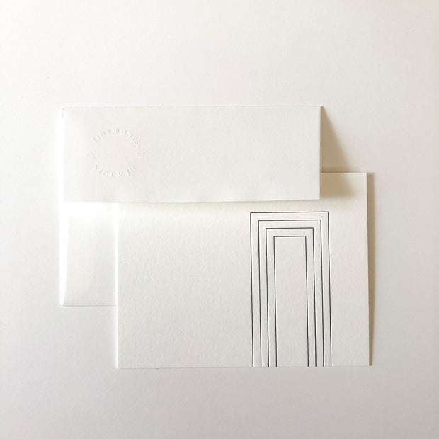 design II letterpress stationery - set of 6