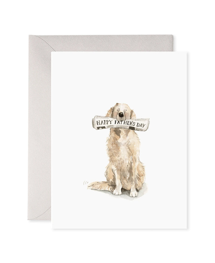 doggy dad father's day card