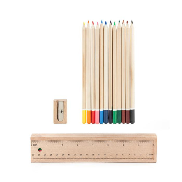 doodle box colored pencils & ruler set