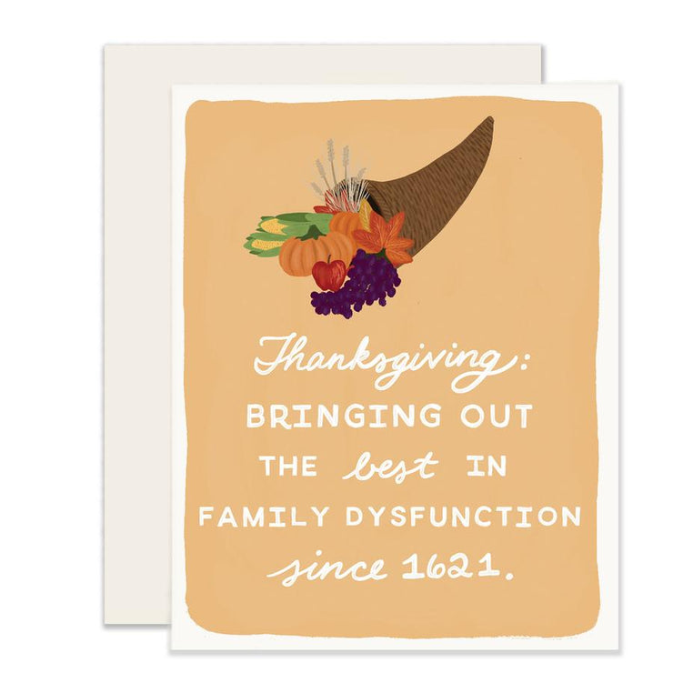 thanksgiving dysfunction card