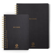 ebony - twin wire lined notebooks - various sizes
