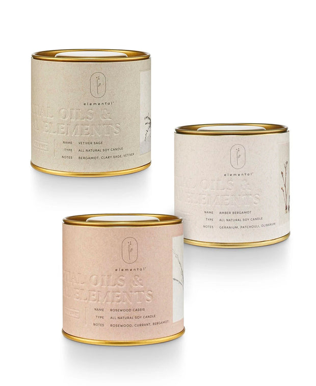elemental natural tin 8.5 oz candles
