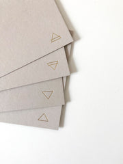 elements gold foil stationery - set of 8
