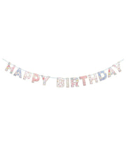 english garden birthday garland