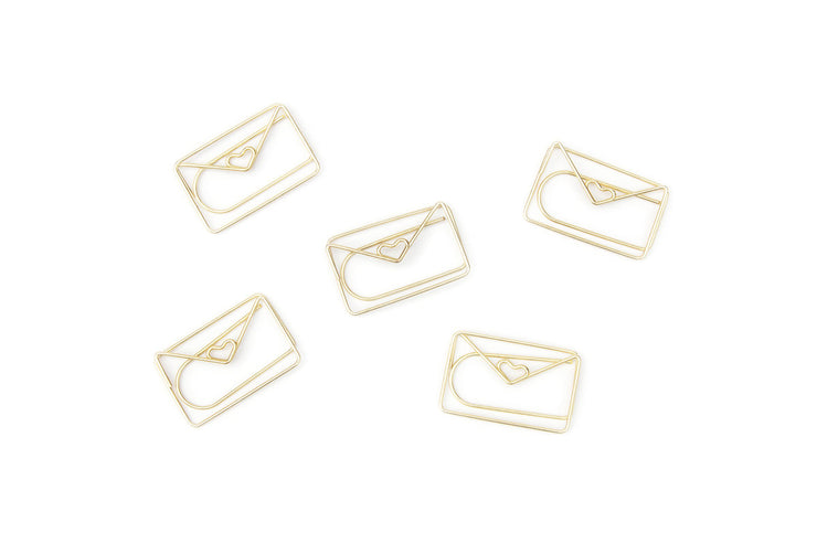 envelope paper clips - gold