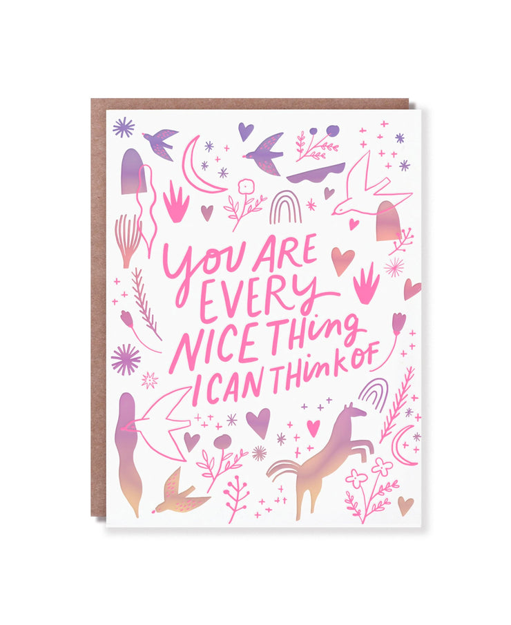 you are every nice thing card