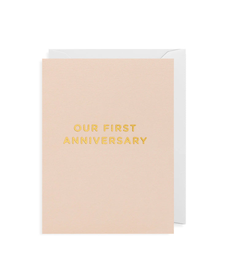 our first anniversary gold foil card