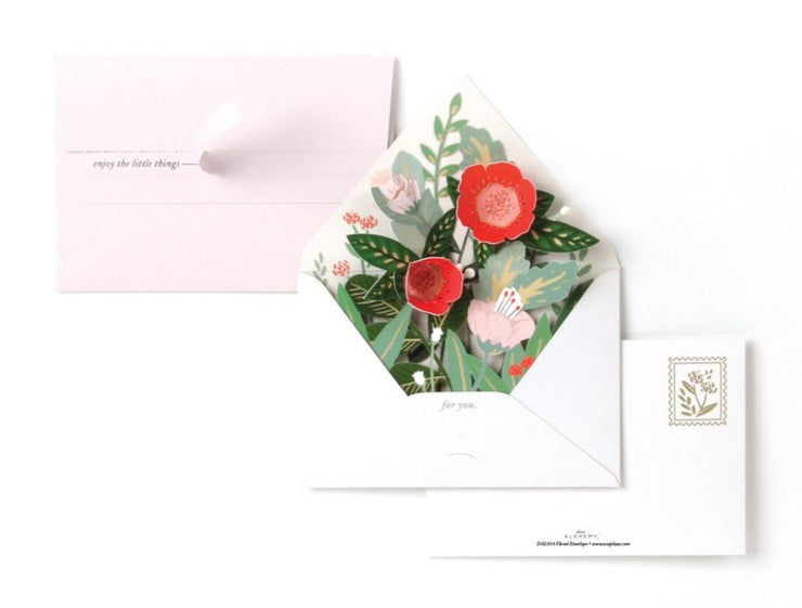 floral envelope pop-up card
