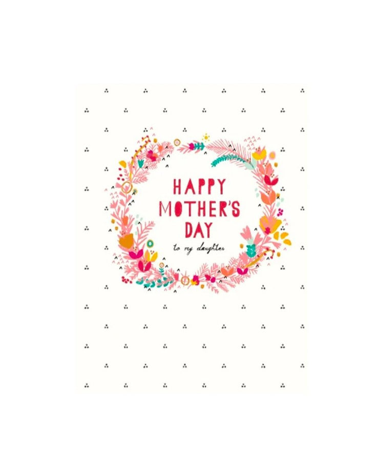floral wreath mother's day card for daughter
