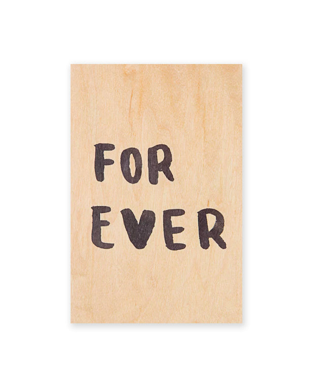 for ever wooden postcard