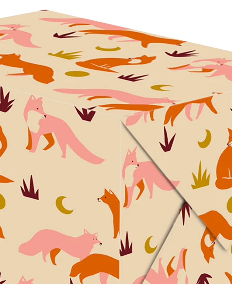 foxes wrapping sheet