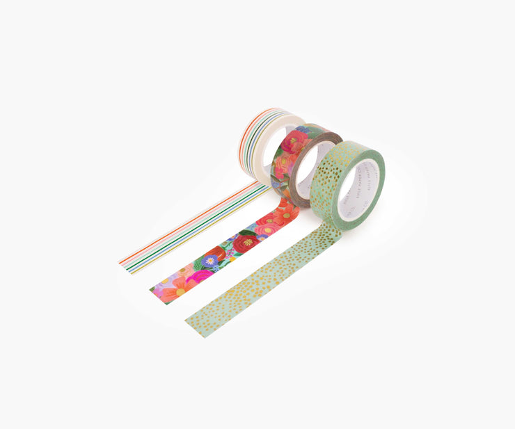 garden party paper tape set