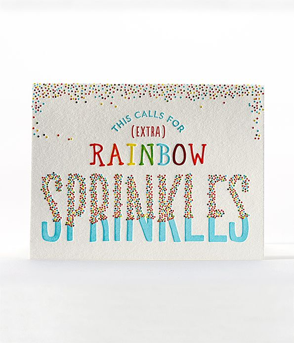 rainbow sprinkles birthday card