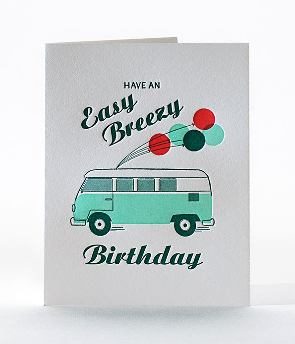 easy breezy birthday card