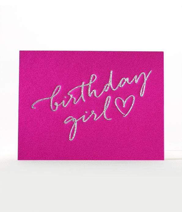 fabulous birthday girl card