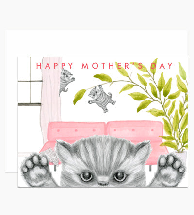mother's day naughty kittens card