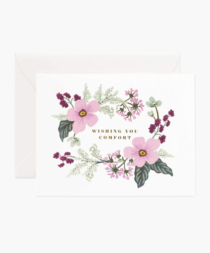 wishing you comfort bouquet card