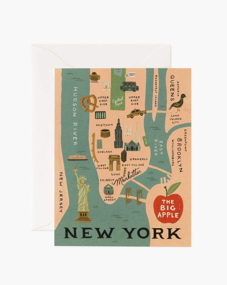 nyc illustrated card