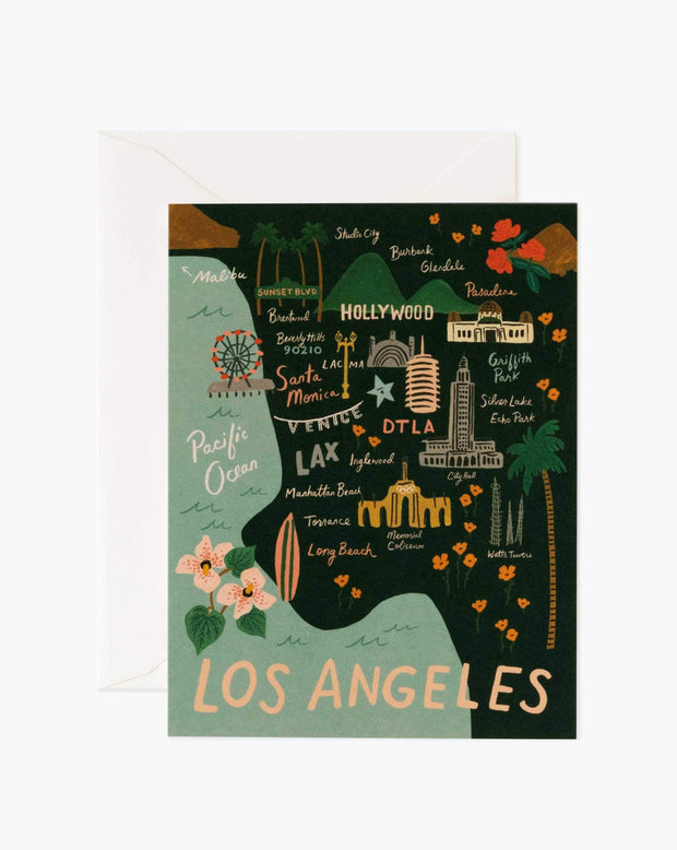 los angeles illustrated card