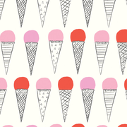 afternoon at the gelateria gift wrap sheet