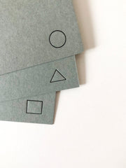 geometry letterpress stationery - set of 6
