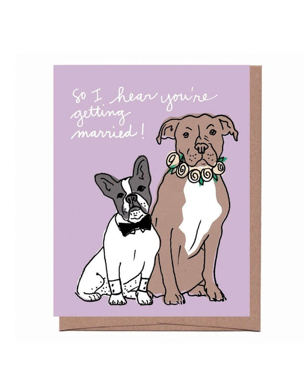 wedding dogs card