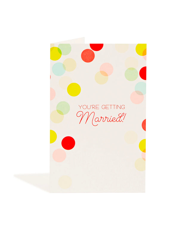 wedding confetti card