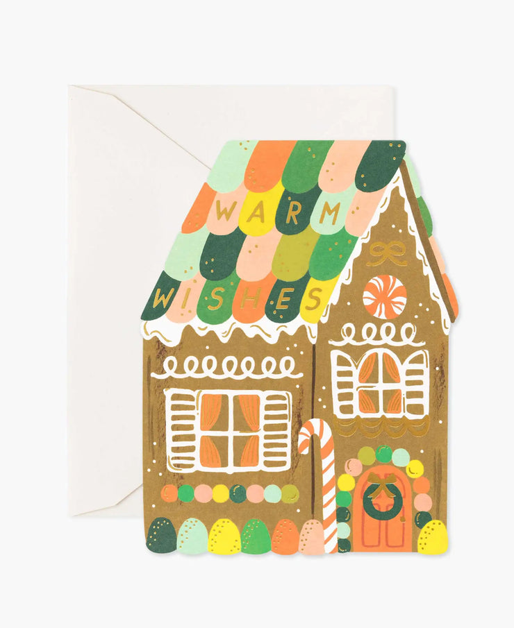 gingerbread house die-cut card