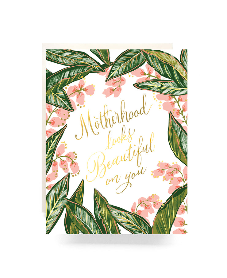 motherhood ginger blossom card