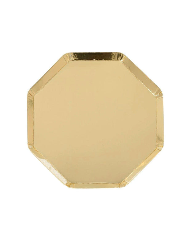 gold side paper plates